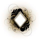 Witte retro diamant vector illustratie
