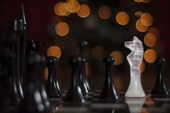 Witte Ridder Royalty-vrije Stock Afbeelding