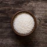Witte rijst in een kom Stock Fotografie