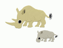 Witte rinocerossen stock illustratie