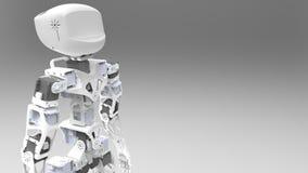 Witte robot Royalty-vrije Stock Afbeelding