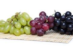 Witte, rode en zwarte druiven Royalty-vrije Stock Afbeelding
