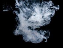Witte rook op een zwarte achtergrond De wijze van het het schermmengsel Royalty-vrije Stock Afbeelding