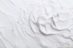 witte roomtextuur voor patroon en achtergrond Stock Afbeelding