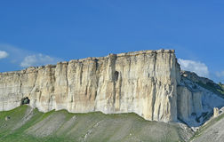 Witte rots in de Krim Royalty-vrije Stock Foto's