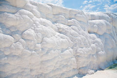Witte rotsen en travertijn van Pamukkale Royalty-vrije Stock Afbeelding