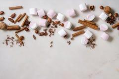 Witte roze heemst stock afbeeldingen