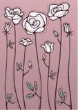 Witte rozen vector illustratie