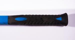 Witte Rubber van Mallet Hand Tool Grip Blue Witte Bouw Als achtergrond stock afbeeldingen