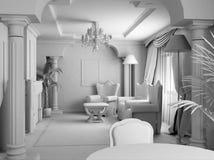 Witte ruimte Royalty-vrije Stock Foto's