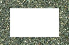 Witte ruimte en steen Royalty-vrije Stock Afbeelding