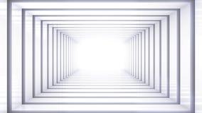 Witte ruimtescène Stock Afbeeldingen