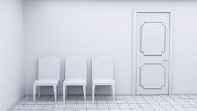 Witte ruimtestoelen Stock Foto