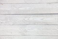 Witte rustieke houten plankenachtergrond Stock Afbeeldingen