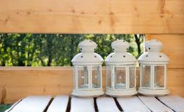 Witte Rustieke Lampen Royalty-vrije Stock Afbeelding