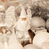 Witte Santa Claus Royalty-vrije Stock Fotografie