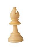 Witte schaakbischop Royalty-vrije Stock Foto's