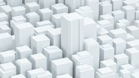Witte schematische stads 3d illustratie als achtergrond Royalty-vrije Stock Foto's