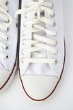 Witte schoenen Royalty-vrije Stock Foto's