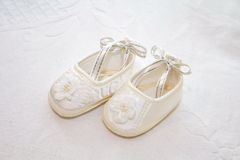 Witte schoenen Royalty-vrije Stock Fotografie