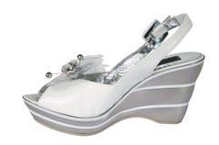 Witte schoenen Stock Foto