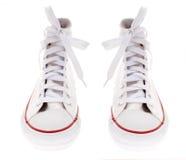 Witte schoenen Stock Fotografie