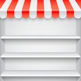 Witte Showcase met het Rode Afbaarden Royalty-vrije Stock Fotografie