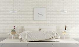 Witte slaapkamer stock illustratie