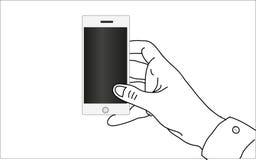 Witte slimme telefoon royalty-vrije stock foto's