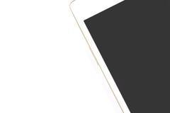 Witte slimme telefoon op witte achtergrond Stock Afbeeldingen