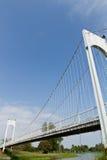 Witte slingerbrug Stock Afbeelding