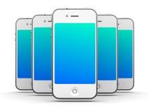 Witte Smartphones Stock Afbeeldingen