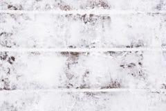 Witte sneeuw op de raad Royalty-vrije Stock Afbeelding