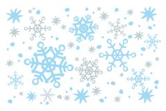 Witte sneeuwachtergrond Stock Afbeelding