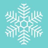 Witte Sneeuwvlok Royalty-vrije Stock Afbeeldingen