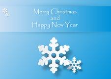 Witte sneeuwvlok op blauwe achtergrond Royalty-vrije Stock Foto