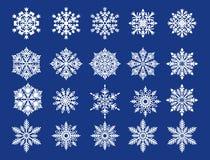 Witte sneeuwvlokken Stock Foto