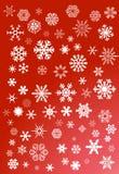 Witte sneeuwvlokken  Stock Fotografie