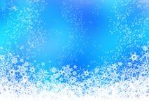 Witte sneeuwvlokken op blauwe achtergrond Stock Foto