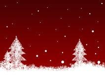 Witte Sneeuwvlokken op Donkerrood Royalty-vrije Stock Foto