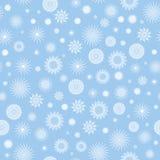 Witte sneeuwvlokken op een blauwe achtergrond. Royalty-vrije Stock Afbeelding
