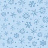 Witte sneeuwvlokken op een blauwe achtergrond. Stock Foto's