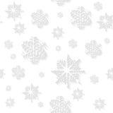 Witte sneeuwvlokken vector naadloze achtergrond Stock Fotografie
