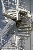 Witte spiraalvormige treden Stock Afbeelding