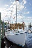 Witte Sponsboot Stock Afbeeldingen