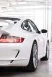 Witte sportscar Royalty-vrije Stock Afbeeldingen