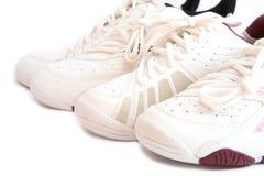 Witte sportschoenen royalty-vrije stock foto