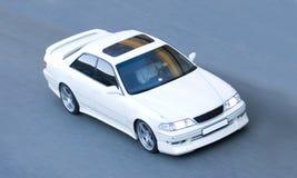 Witte Sportwagen stock foto's