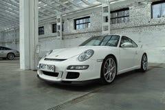 Witte sportwagen, Porsche 911 GT3 Royalty-vrije Stock Afbeelding
