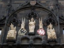 Witte standbeelden Stock Afbeelding